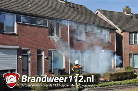 Brand in woning Edouard Lalostraat Waalwijk