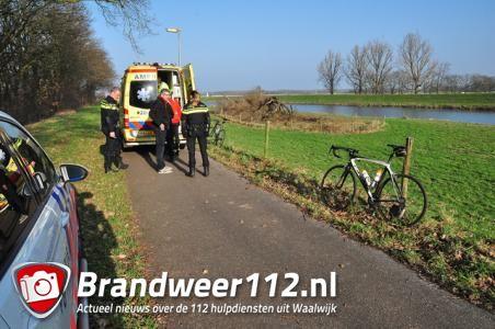 Wielrenner raakt gewond in Waalwijk