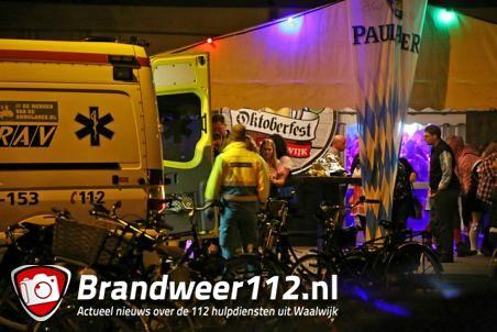 Man met bierpul geslagen op Oktoberfest Waalwijk