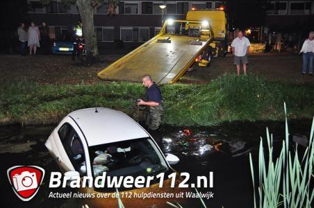 UPDATE: Dronken bestuurder rijdt sloot in aan de Eerste Zeine Waalwijk