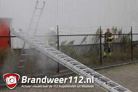 Brandweer rukt uit voor buitenbrand aan de Spuiweg Waalwijk