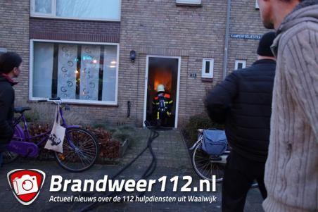 Kleine keukenbrand in woning aan de Kamperfoeliestraat Waalwijk