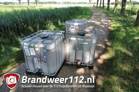 UPDATE: 1000 liter vaten gevonden aan de Oude Maasweg Waalwijk