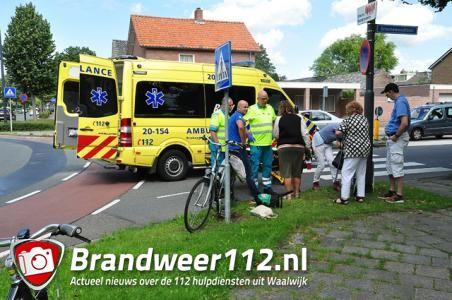 Jongen aangereden op rotonde in Waalwijk