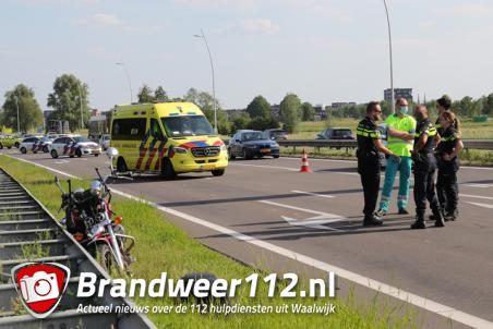 Motorrijder gaat onderuit op de Midden-Brabantweg Waalwijk