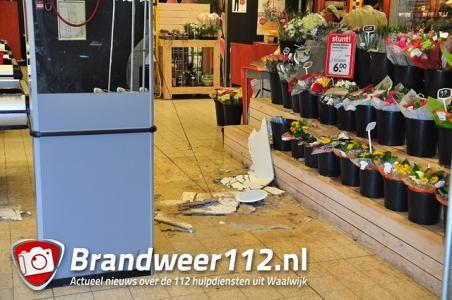 Emté supermarkt ontruimd aan de Grotestraat Waalwijk