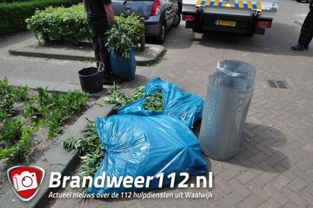 Hennepkwekerij gevonden in woning aan de Edouard Lalostraat Waalwijk