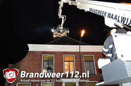 Huis vol rook na schoorsteenbrand aan de Grotestraat Waalwijk