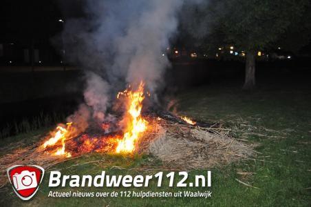 Veel rookontwikkeling door buitenbrand aan de Wijnruitstraat Waalwijk
