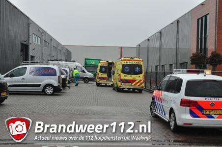 Man gewond bij bedrijfsongeval aan de Spuiweg Waalwijk