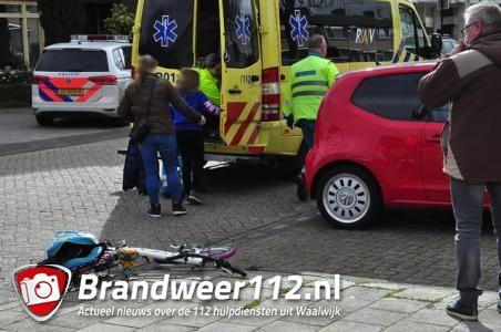 Meisje op de fiets gewond na aanrijding in Waalwijk