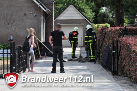 Woning ontruimd door gaslek buiten aan de Prof. Keesomweg Waalwijk