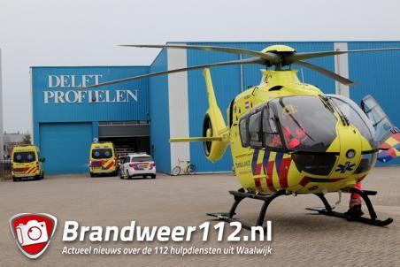 Persoon raakt zwaargewond bij bedrijfsongeval aan de Havenweg Waalwijk