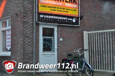 Inbrekers slaan toe bij de Vuurwerkgigant in Waalwijk