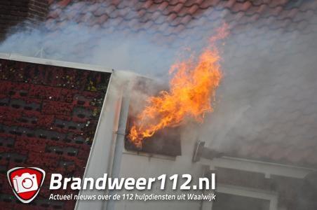 Brand in Waalwijkse woning, bewoners zijn veilig