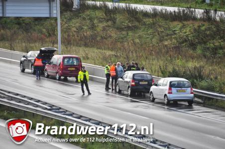 Botsing met vier auto's bij Waalwijk