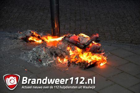 Papier in brand aan de Adriaen Poirtersstraat Waalwijk