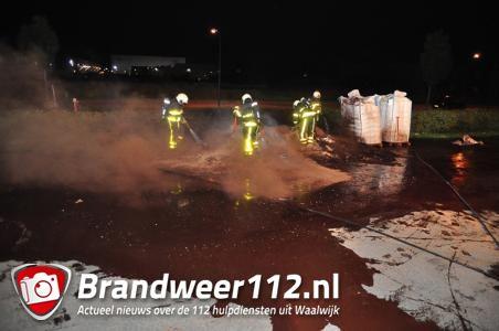Vies klusje voor de brandweer Waalwijk: cacaopoeder in brand aan de Van Hilststraat Waalwijk