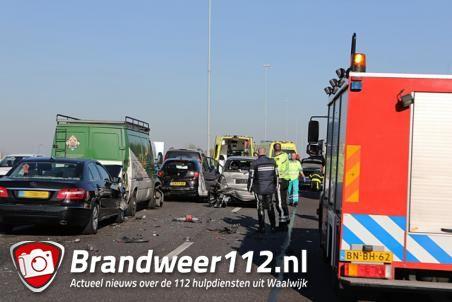 A59 bij Waalwijk afgesloten na groot ongeluk