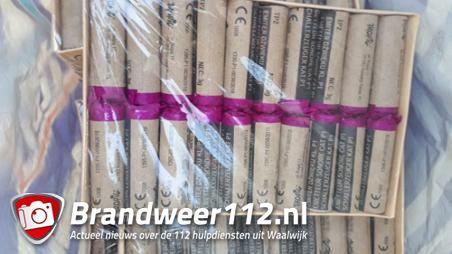 Politie neemt illegaal vuurwerk in beslag en houdt man aan in Waalwijk