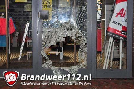 Aktiesport weer het doelwit van een inbraak aan de Markt Waalwijk