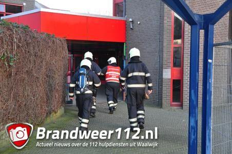 Brandlucht in school De Overlaat aan de Eikendonklaan Waalwijk