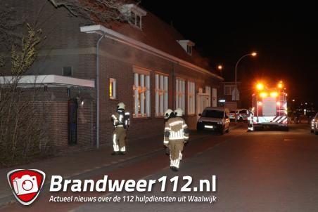 Brandweer rukt uit voor brandalarm in school aan de Baardwijksestraat Waalwijk