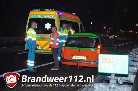 Kleine aanrijding op de A59 (Maasroute) Waalwijk
