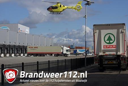 Ernstig bedrijfsongeval met vorkheftruck bij distributiecentrum Spar aan de Zijlweg Waalwijk