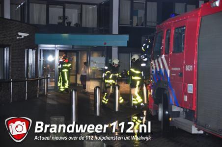 Rookontwikkeling in woonzorgcentrum aan het Vredesplein Waalwijk