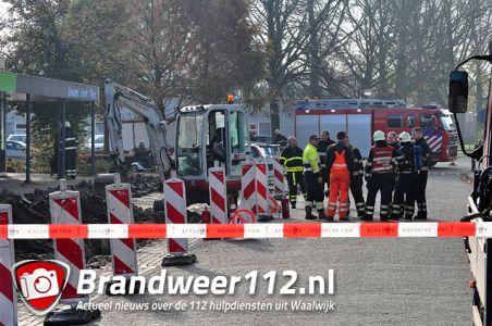 Politie sluit straat af tijdens gaslek aan de Mr. Goeman Borgesiusstraat Waalwijk
