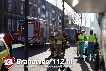 Man verbrand hand aan anti-inbraak rookmachine aan de Stationsstraat Waalwijk
