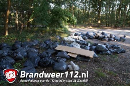 Honderd zakken met hennepafval gedumpt in Waalwijk