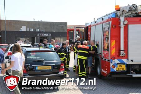 Peuter sluit zichzelf op in snikhete auto in Waalwijk