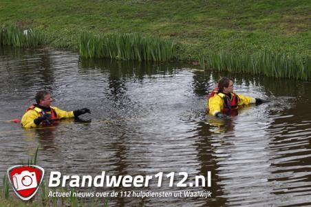 Brandweer zoekt naar mogelijk persoon te water aan de Bachlaan Waalwijk