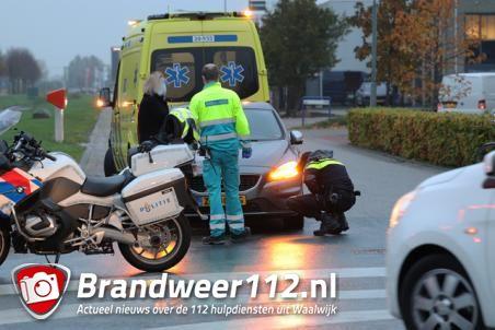 Aanrijding tussen fietser en auto aan de Keurweg/Spuiweg Waalwijk