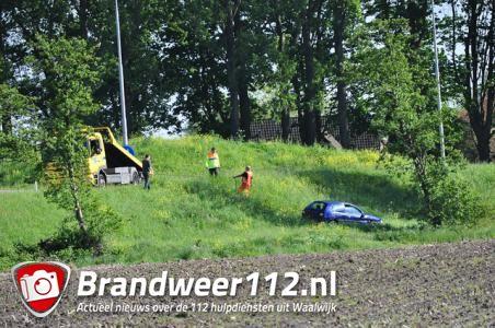 Bestuurder verliest de macht over het stuur bij de oprit A59 Waalwijk