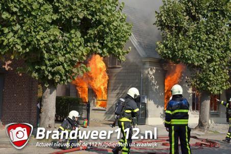 Grote brand in huis aan de Grotestraat Waalwijk