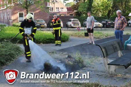 Buitenbrand bij speeltuin in Waalwijk