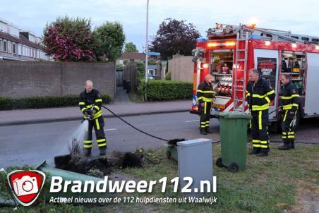 Containerbrand aan de Prof. Keesomweg Waalwijk