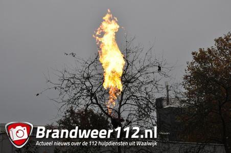 Brandweer rukt uit voor 'brand' aan Dr. Kuyperlaan in Waalwijk