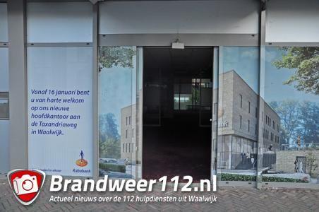 Mogelijk inbraak in oud kantoor van de Rabobank Waalwijk