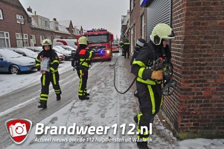 Brand in keuken aan de St. Crispijnstraat Waalwijk
