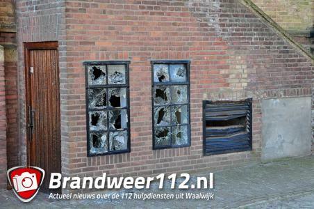 Ruiten vernield bij kerk aan het St. Jansplein Waalwijk