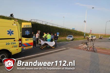 Fietsster aangereden door auto in Waalwijk