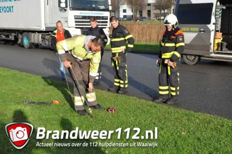 Onderzoek aan Gragtmansstraat in Waalwijk naar mogelijk gaslek