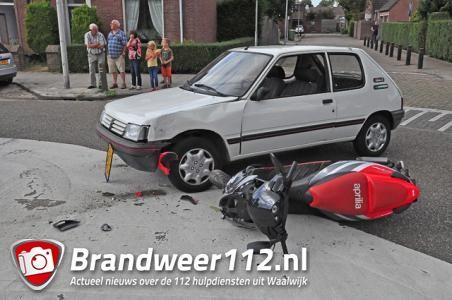 Scooterrijder gewond door ongeluk met auto in Waalwijk