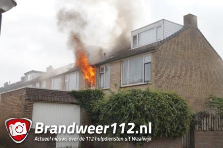 Uitslaande woningbrand in Waalwijkse woning