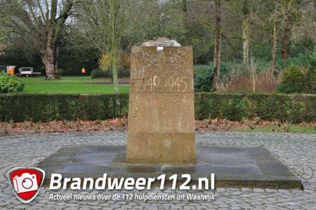 Mysterieus onderhoud oorlogsmonumenten Waalwijk