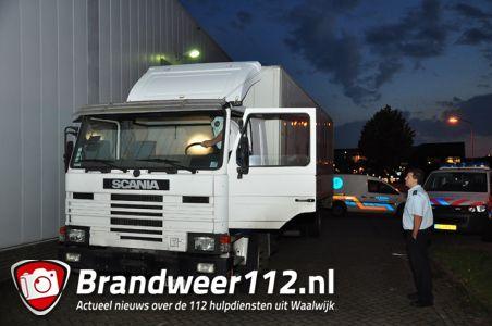 Gestolen vrachtwagen uit België terug gevonden aan de Schutweg Waalwijk